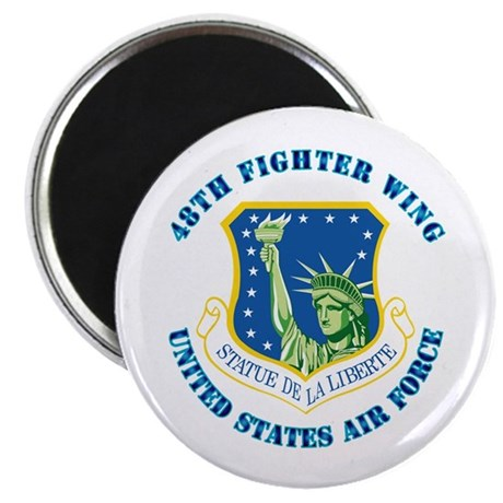 """48th Fighter Wing with Text 2.25"""" Magnet (10 pack)"""