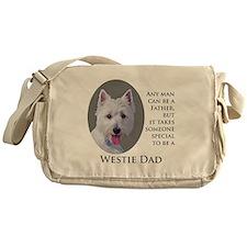 Westie Dad Messenger Bag