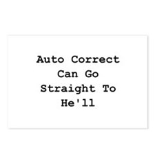 Auto Correct He'll Postcards (Package of 8)