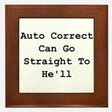 Auto Correct He'll Framed Tile
