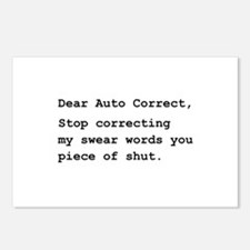 Auto Correct Shut Postcards (Package of 8)