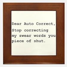 Auto Correct Shut Framed Tile