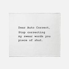 Auto Correct Shut Throw Blanket