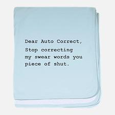 Auto Correct Shut baby blanket