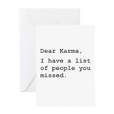 Dear Karma Greeting Card