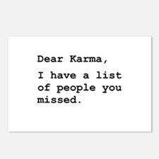 Dear Karma Postcards (Package of 8)