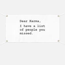 Dear Karma Banner