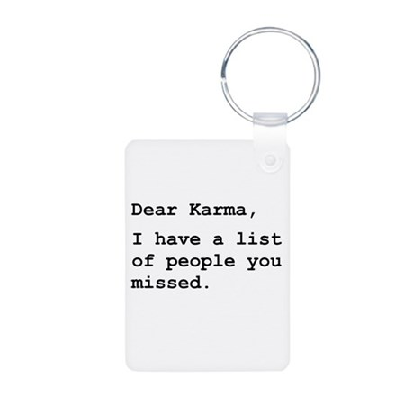 Dear Karma Aluminum Photo Keychain