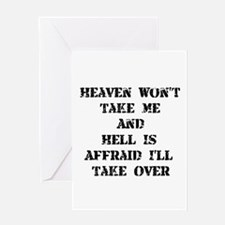 Heaven Hell Greeting Card