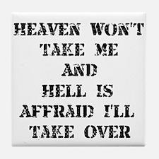 Heaven Hell Tile Coaster