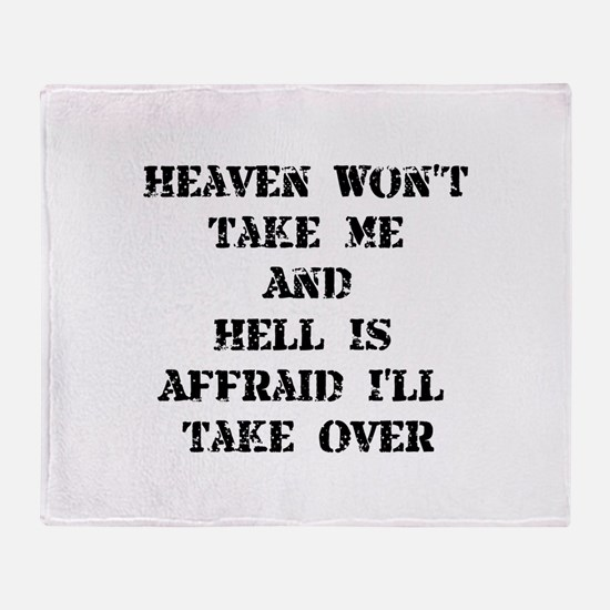 Heaven Hell Throw Blanket