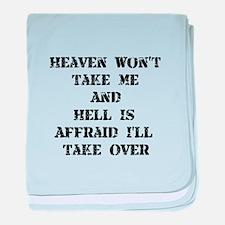 Heaven Hell baby blanket