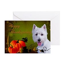 Westie Thanksgiving Card