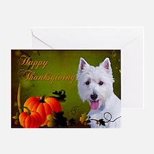 Westie Thanksgiving Card
