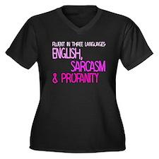 Fluent In Three Languages Women's Plus Size V-Neck
