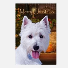 Westie Holiday Postcards (Package of 8)