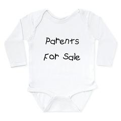 Parents For Sale Long Sleeve Infant Bodysuit