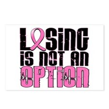 Losing Is Not An Option Breast Cancer Postcards (P