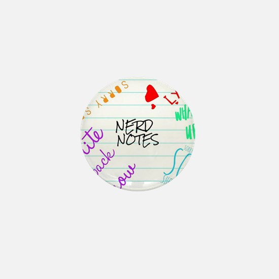 nerd notes Mini Button