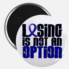 """Losing Is Not An Option Colon Cancer 2.25"""" Magnet"""