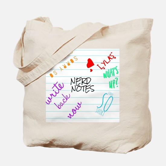 nerd notes Tote Bag