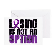 Losing Is Not An Option Epilepsy Greeting Cards (P