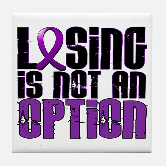 Losing Is Not An Option Epilepsy Tile Coaster
