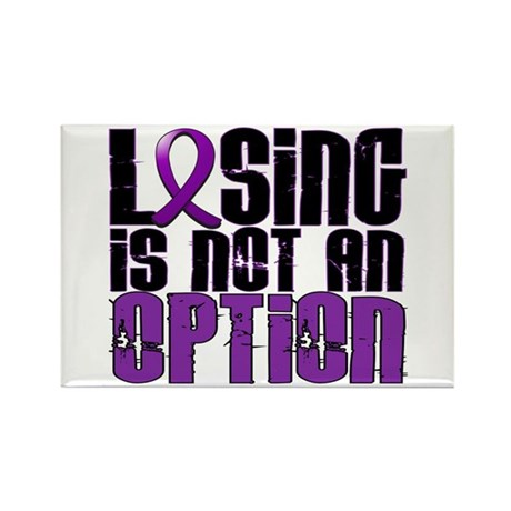 Losing Is Not An Option Epilepsy Rectangle Magnet