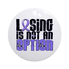 Losing Is Not An Option Esophageal Cancer Ornament