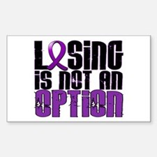 Losing Is Not An Option Fibromyalgia Decal