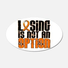 Losing Is Not An Option Leukemia 22x14 Oval Wall P