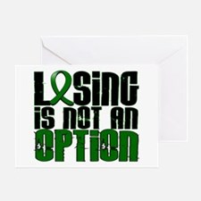 Losing Is Not An Option Liver Disease Greeting Car