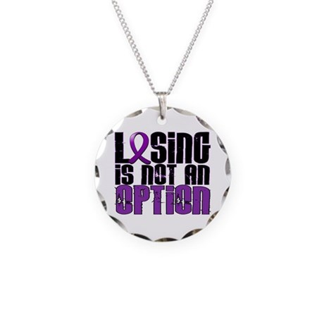 Losing Is Not An Option Lupus Necklace Circle Char