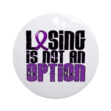 Losing Is Not An Option Lupus Ornament (Round)