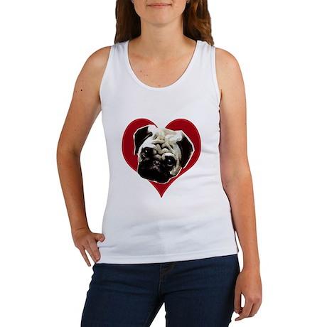 pug love Women's Tank Top