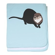 River Otter baby blanket