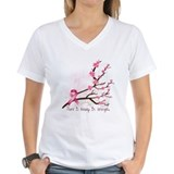 Breast cancer awareness Womens V-Neck T-shirts
