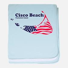 Cisco Beach - Map Design. baby blanket