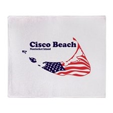Cisco Beach - Map Design. Throw Blanket