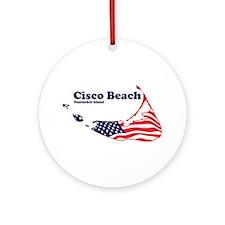 Cisco Beach - Map Design. Ornament (Round)
