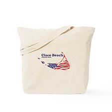 Cisco Beach - Map Design. Tote Bag