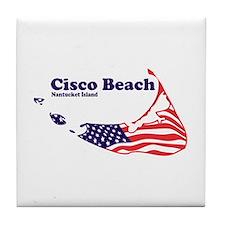 Cisco Beach - Map Design. Tile Coaster
