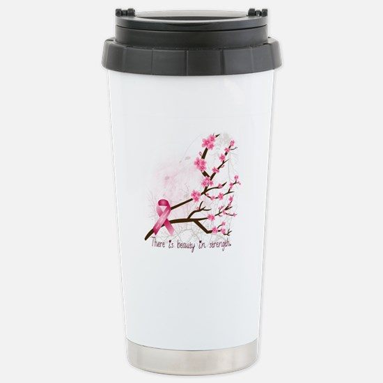 Breast Cancer Awareness Stainless Steel Travel Mug