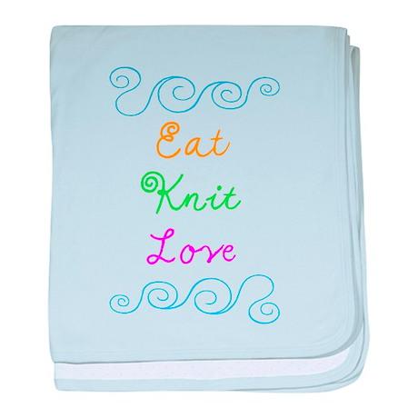 Eat Knit Love baby blanket