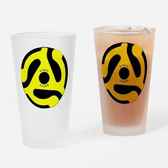 Vinyl Lives Drinking Glass