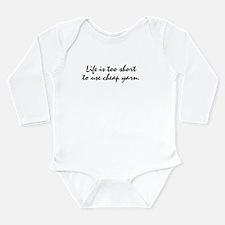 Cheap Yarn Long Sleeve Infant Bodysuit