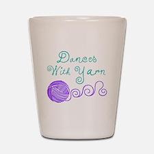 Dances with Yarn Shot Glass