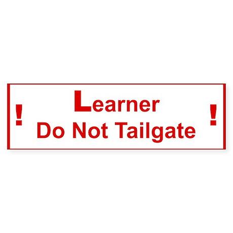 Learner Bumper Sticker