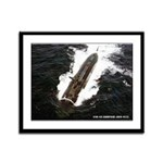 USS GUARDFISH Framed Panel Print