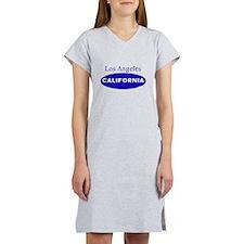 Blue Los Angeles California Women's Nightshirt
